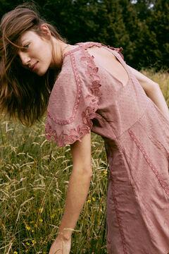Hoss Intropia Etna. Vestido corto algodón romántico Rosa