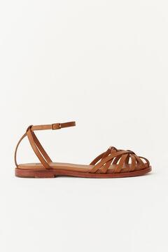 Hoss Intropia Conca. Sandalias de piel estilo cangrejeras Marrón
