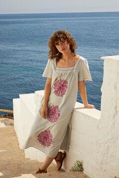 Hoss Intropia Serena. Vestido midi de algodón bordado Verde