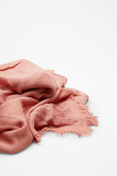 Hoss Intropia Gavarnie. Fular liso algodón lino Rosa
