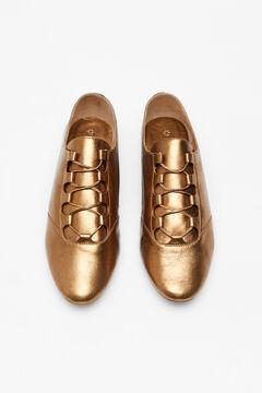 Hoss Intropia Pesaro. Zapatos metalizados de piel Amarillo