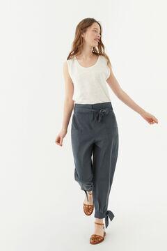 Hoss Intropia Orosei. Pantalón ancho con cinturón Azul