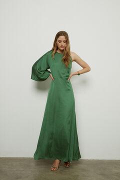 Hoss Intropia Formentor. Vestido largo de fiesta asimétrico Verde