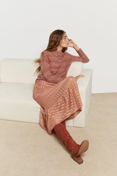 Hoss Intropia Fiss. Jersey lana alpaca multicolor Rojo