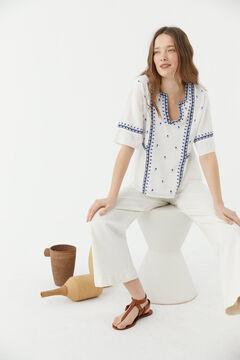 Hoss Intropia Voramar. Blusa de algodón con bordados Blanco