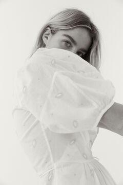 Hoss Intropia Vivers. Blusa de algodón bordada Blanco