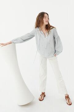 Hoss Intropia Roda. Blusa algodón bordada Azul