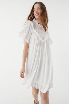 Hoss Intropia Almunia. Vestido corto romántico Blanco