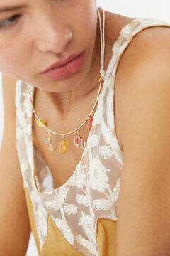 Hoss Intropia Biot. Gargantilla dorada piedras colores Varios
