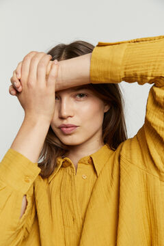 Hoss Intropia Saldes. Camisa algodón oversize Amarillo