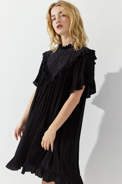 Hoss Intropia Almunia. Vestido corto romántico Negro