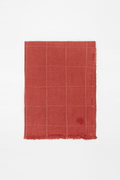 Hoss Intropia Gavarnie. Fular liso algodón lino Rojo