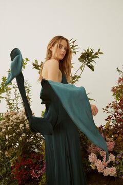 Hoss Intropia Pareis. Vestido largo de fiesta satinado Azul