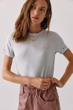 Hoss Intropia Madaleta. Camiseta bordado Hoss Intropia Gris