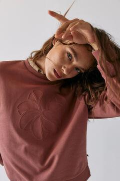 Hoss Intropia Benasque. Sudadera algodón orgánico logo Hoss Intropia Rosa