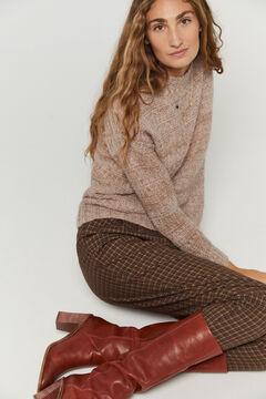 Hoss Intropia Fiss. Jersey lana alpaca multicolor Rosa