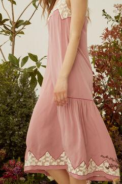Hoss Intropia Pula. Vestido midi lencero fluido Rosa