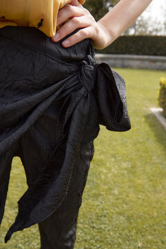 Hoss Intropia Algar. Pantalón fluido lazada Negro