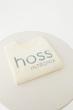 Hoss Intropia Zahara. Sudadera infantil algodón orgánico logo Marfil