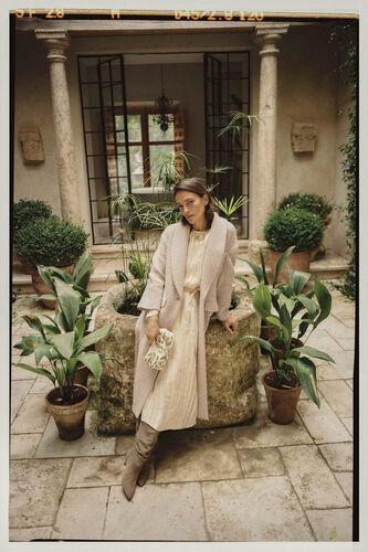 Nuovo. Long coat with tuxedo collar