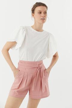 Hoss Intropia Talamanca. Camiseta de algodón orgánica romántica Blanco