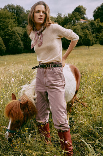 Davos. Wide jeans in organic cotton