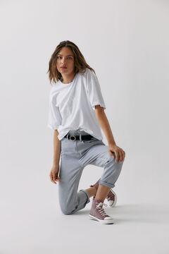 Hoss Intropia Munia. Camiseta algodón orgánico mensaje Blanco