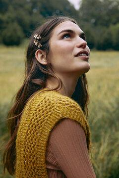 Hoss Intropia Ordesa. Pasador de pelo dorado con lapislázuli Amarillo
