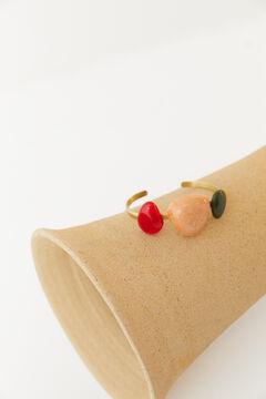 Hoss Intropia Gaeta. Brazalete dorado piedras multicolor Rojo