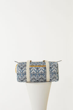 Hoss Intropia Salis. Bolsa de algodón orgánico estampada Azul