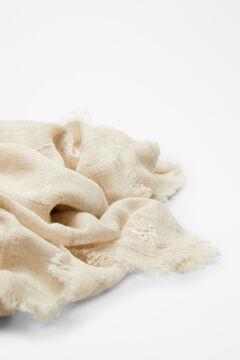 Hoss Intropia Gavarnie. Fular liso algodón lino Beige