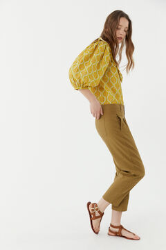 Hoss Intropia Menorca. Pantalón mezcla lino pinzas Gris