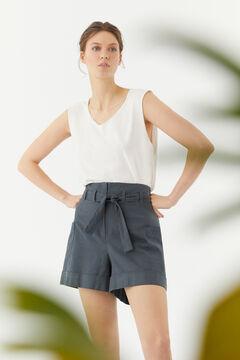 Hoss Intropia Elba. Pantalón bermuda corto cinturón Azul