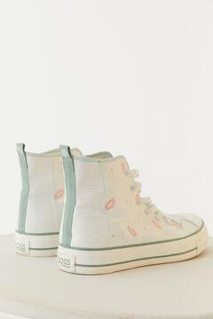 Hoss Intropia Arone. Zapatillas de tela con bordados Marfil
