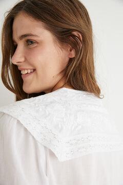 Hoss Intropia Taga. Camisa algodón bordada Blanco