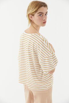 Hoss Intropia Velilla. Camiseta algodón orgánico rayas Amarillo