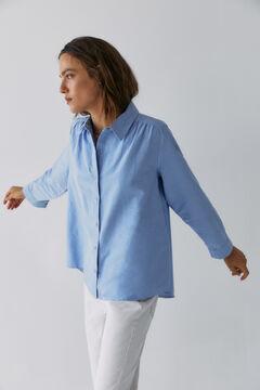 Hoss Intropia Morens. Camisa oxford algodón Azul