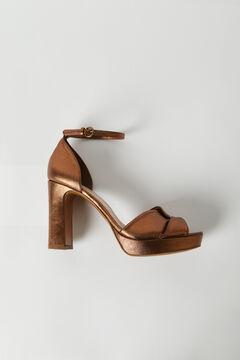 Hoss Intropia Troncalosso. Sandalias metalizadas de piel Amarillo