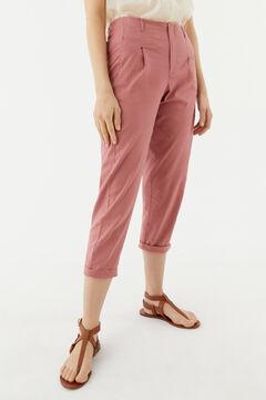 Hoss Intropia Menorca. Pantalón mezcla lino pinzas Rosa