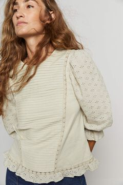 Hoss Intropia Tena. Camiseta algodón orgánico romántica Verde