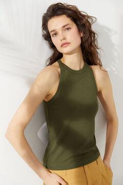 Hoss Intropia Bona. Camiseta algodón orgánico canalé Gris