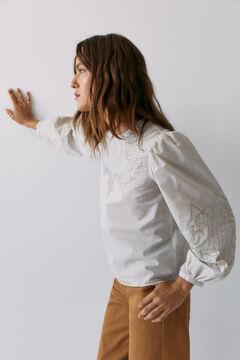 Hoss Intropia Loarre. Blusa algodón romántica Verde