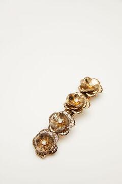 Hoss Intropia Dom. Broche dorado con lapislázuli Amarillo