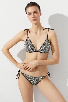 Hoss Intropia Tossa. Bikini triangular estampado Marfil