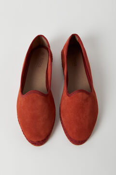 Hoss Intropia Mulino. Zapatos planos de ante Rojo