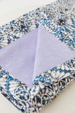 Hoss Intropia Amalfi. Toalla algodón orgánico estampada Azul