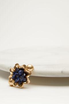 Hoss Intropia More. Broche dorado con lapislázuli Amarillo