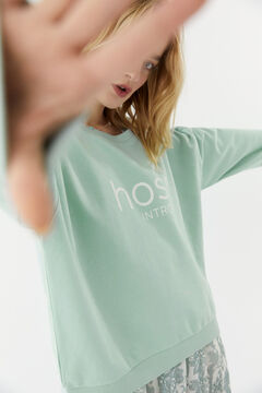Hoss Intropia Zahara. Sudadera algodón orgánico logo Hoss Verde