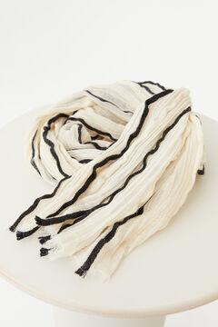 Hoss Intropia Bari. Fular de algodón plisado Marfil