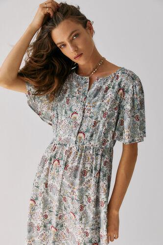 Dolomitas. Midi cotton printed shirt dress